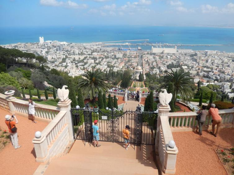 Bahai Gardens in Haifa (city North of Tel Aviv)